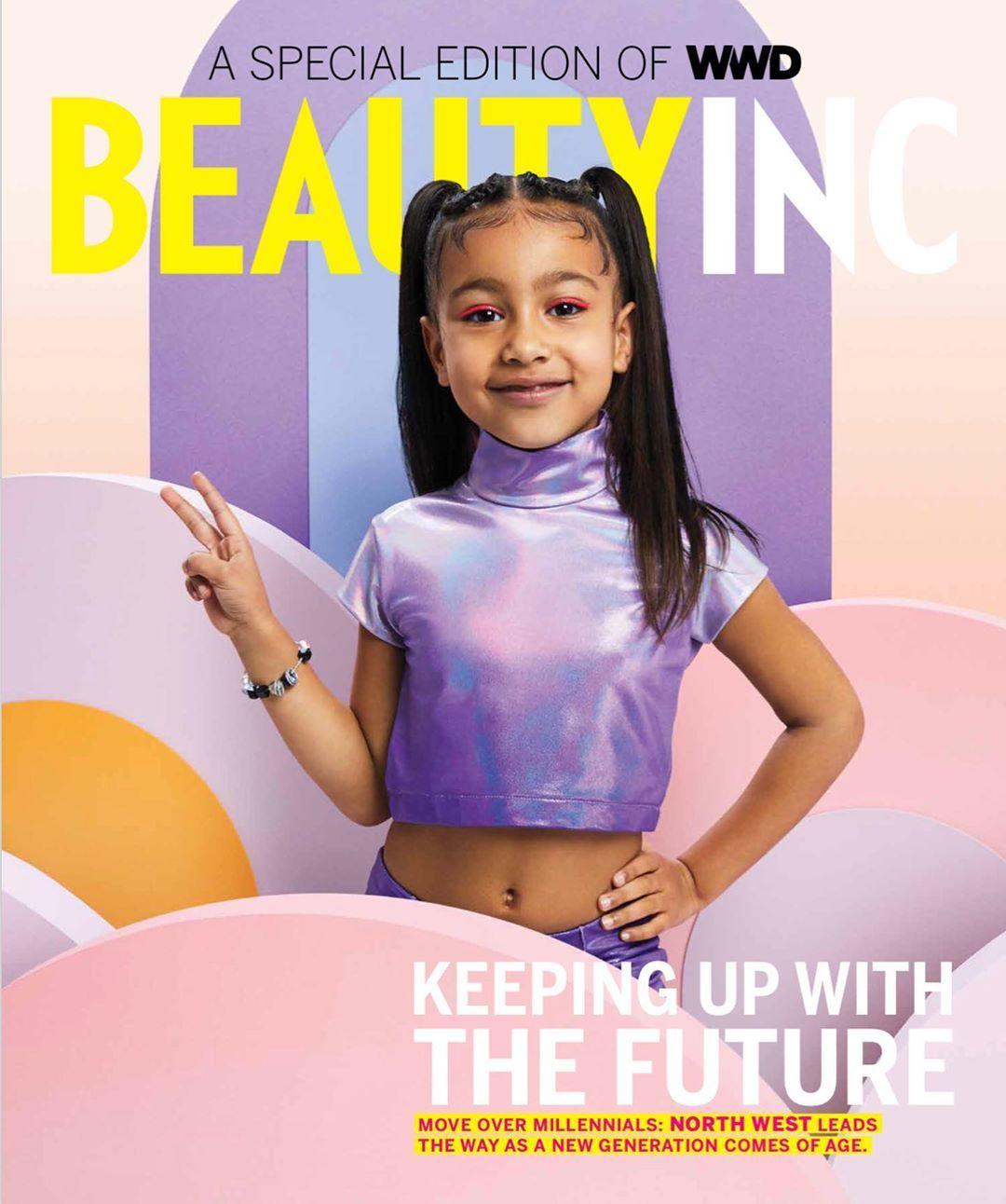 North West Lands Her First Solo Magazine Cover At Age 5 Naijadome Celebrity Kids Fashion North West Kardashian Kim Kardashian
