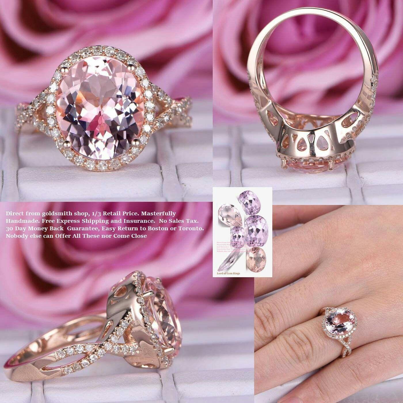 10x12mm oval morganite ring, pave diamond infinite love shank. www ...