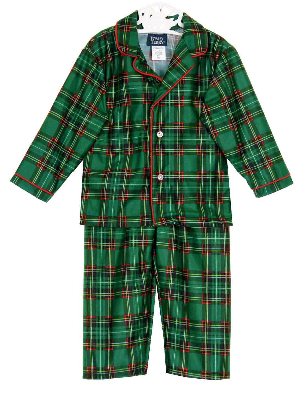 Toddler Boy Christmas Pajamas.New Green Plaid Pajamas For Babies Toddlers Little Boys