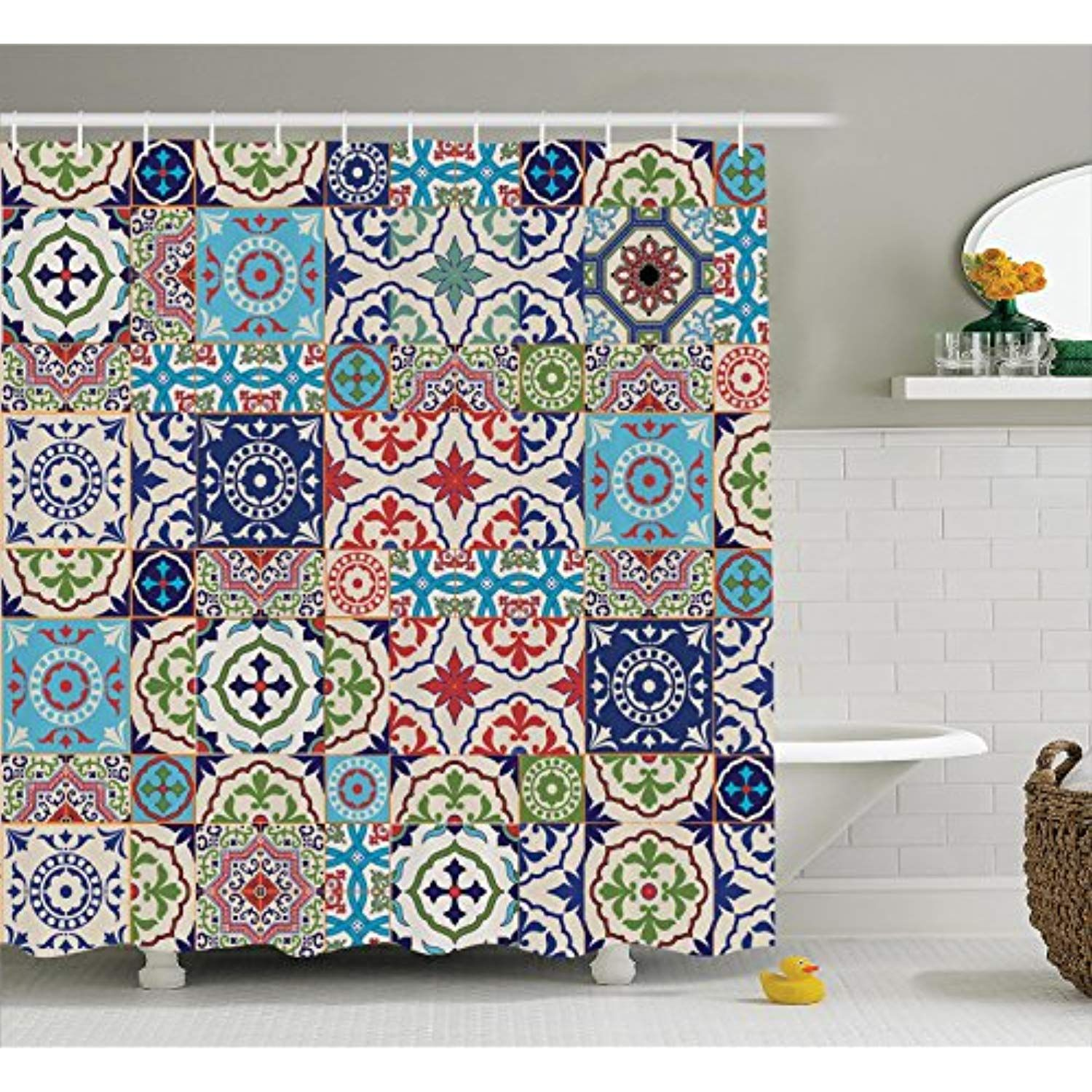 Ambesonne Moroccan Decor Collection Patchwork Pattern From