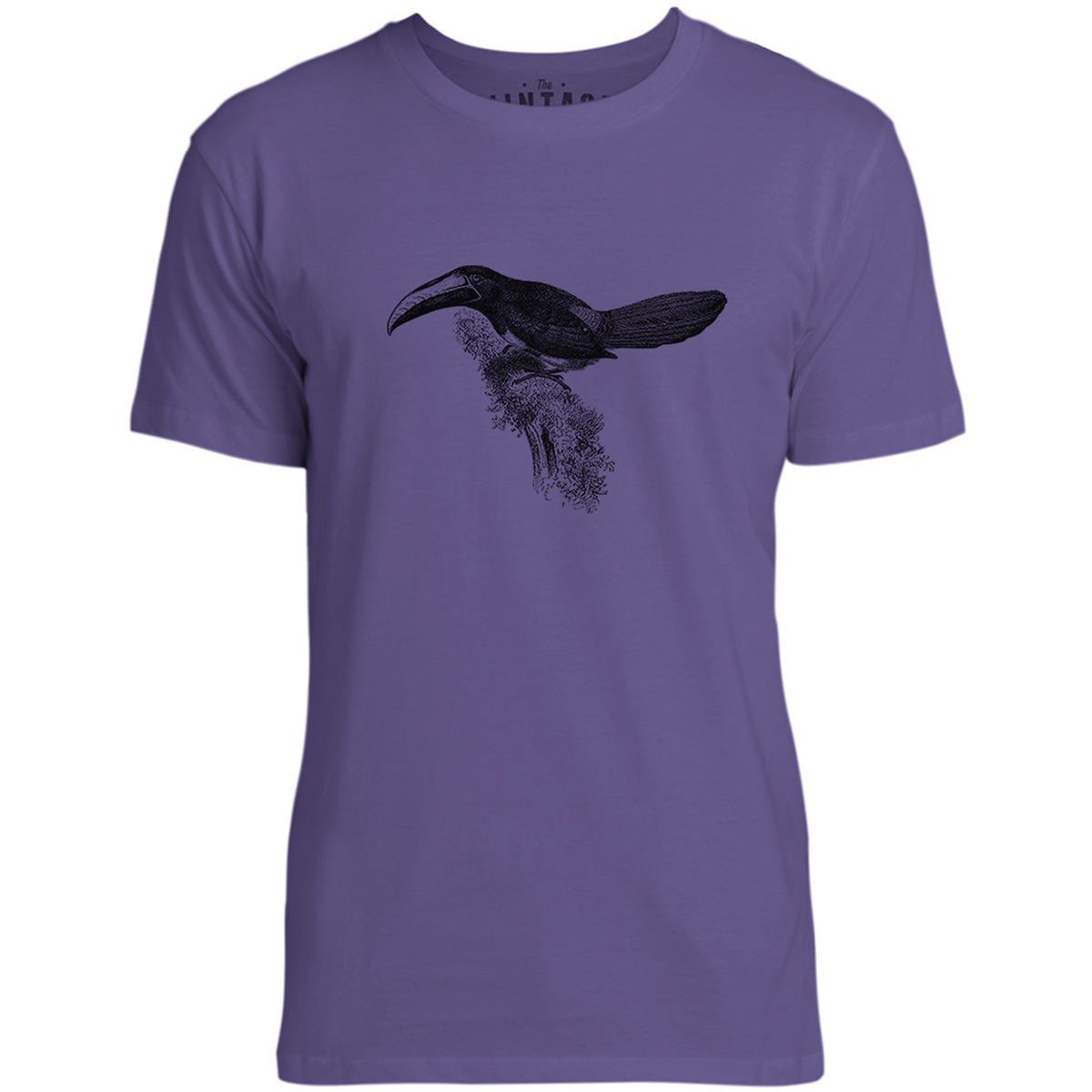 Mintage Amazon Toucan Mens Fine Jersey T-Shirt (Purple)
