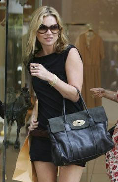 521c2480ff Kate Moss and her black Mulberry Bayswater bag
