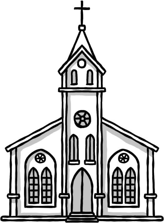 Download Church Hand Painted Drawing Chapel Png Image High Quality Clipart Png Free Freepngclipart