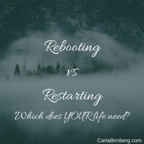 When we encounter glitches in technology we often choose to REBOOT or RESTART. Could the same apply to our lives? Which would rejuvenate you most? by @carlabirnberg #wycwyc