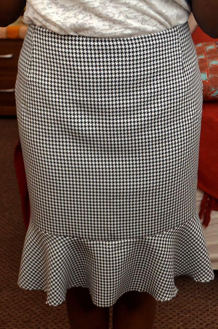 Learn how to draft the pattern for a trumpet skirt More