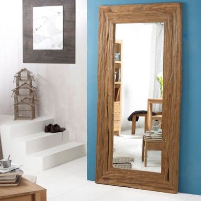River teck teak mirror 200x100 driftwood pinterest for Miroir 180x90