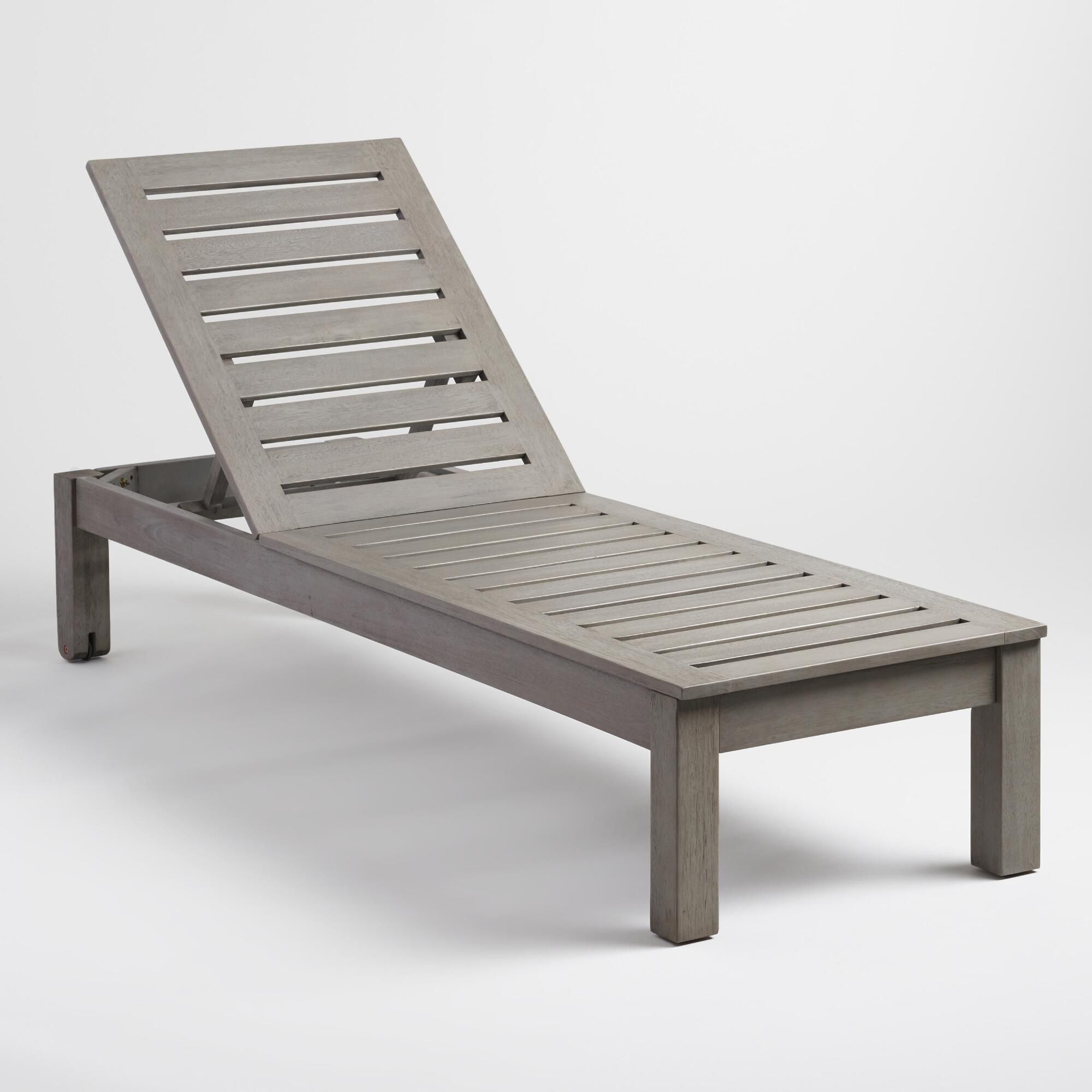 Gray Wood Praiano Outdoor Patio Chaise Lounge By World Market Used Outdoor Furniture Affordable Outdoor Furniture Lounge Chair Outdoor
