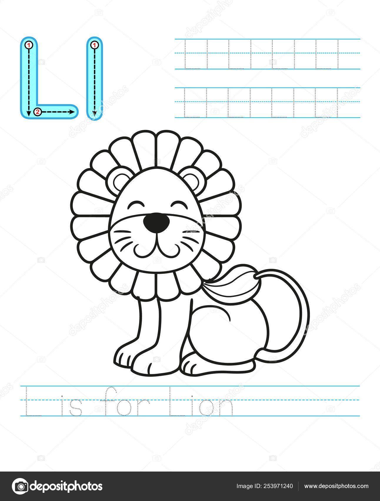 Letter L Preschool Worksheet Coloring Book Page Printable