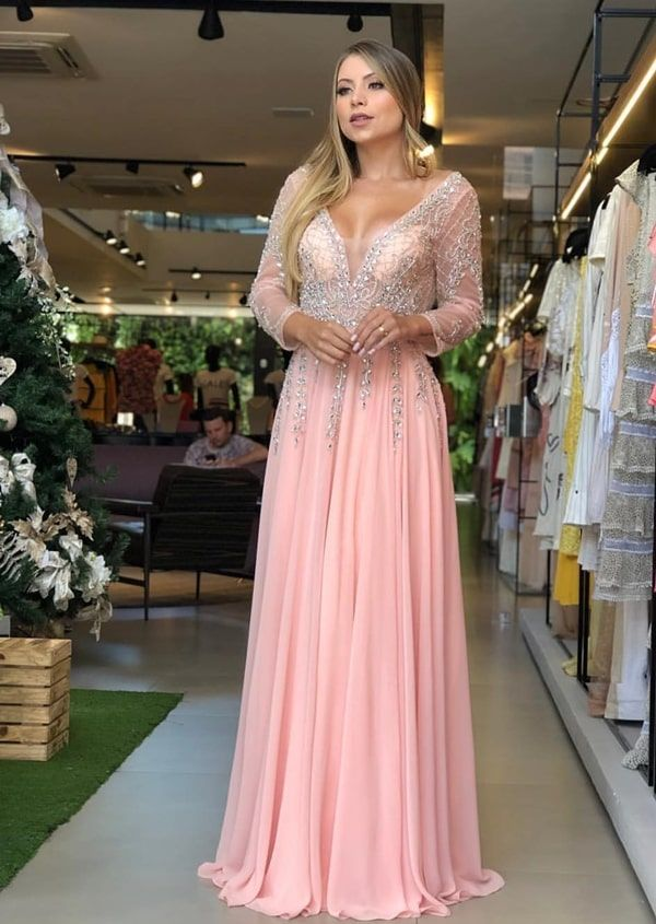 Vestido Rosa Rose Renda Festa Casamento