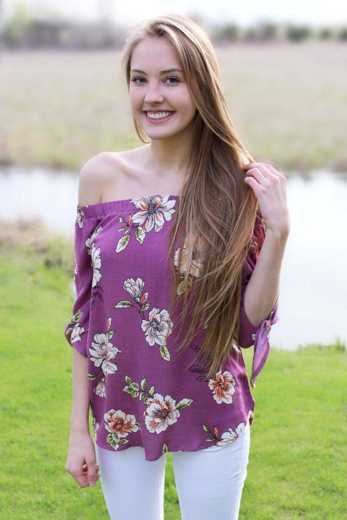 Feeling Flirty Off-the-Shoulder Floral Top