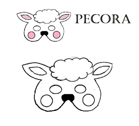 Maschere degli animali della fattoria carnevale for Maschere da colorare animali