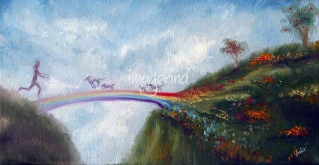 "crossing the bridge to heaven | Rainbow Bridge"" by Stella Violano, California // Rainbow bridge- at ..."
