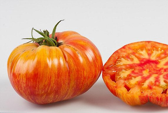 Marvel Stripe tomato, 25 seeds, Mexican heirloom, snazzy heart shaped fruit, vigorous plants, drought tolerant, loves … | Tomato seeds, Heirloom tomato seeds, Seeds