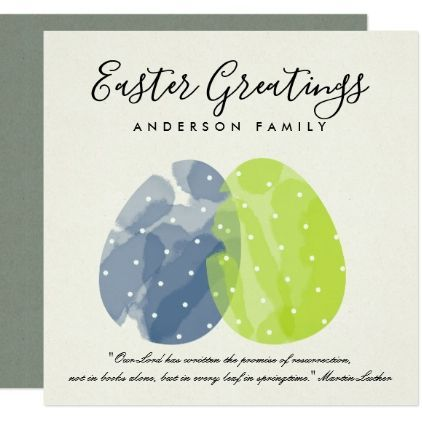 Modern colorful watercolor easter eggs personalise card romantic modern colorful watercolor easter eggs personalise card romantic wedding gifts wedding anniversary marriage party negle Image collections