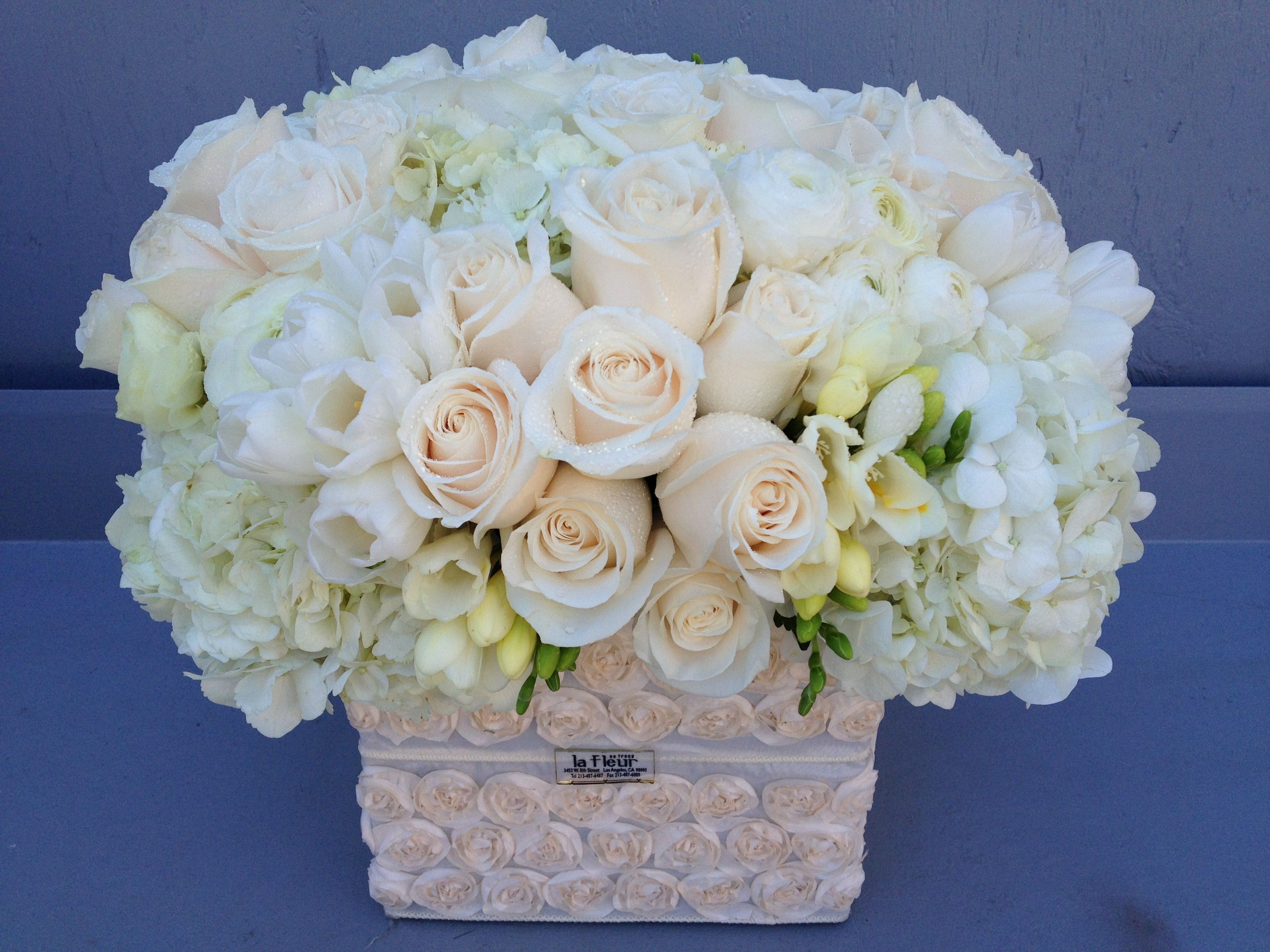 All White by La Fleur by Tracy Fresh flower delivery