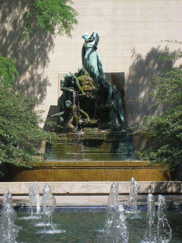 Fuente de los Grandes Lagos, Chicago. USA.-