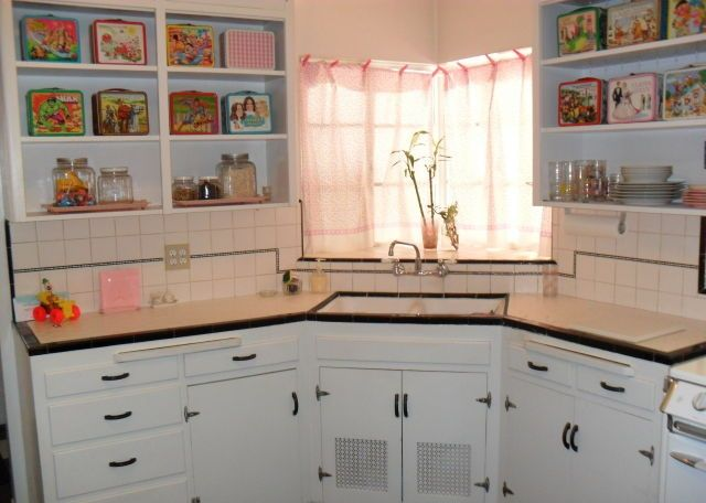 Vintage Original Condition 1940 Home House Phoenix Arizona Cabinets Kitchen