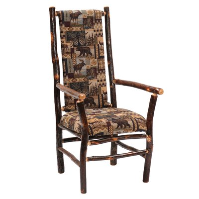 Amazing Fireside Lodge Hickory Upholstered Dining Chair Products Inzonedesignstudio Interior Chair Design Inzonedesignstudiocom