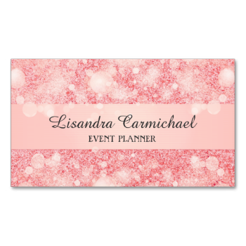 Strawberry pink ice sparkle glitter print design for the Event and