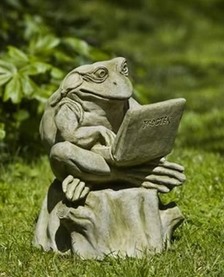 Laptop Frog Yard Ornament D Garden Statues Stone
