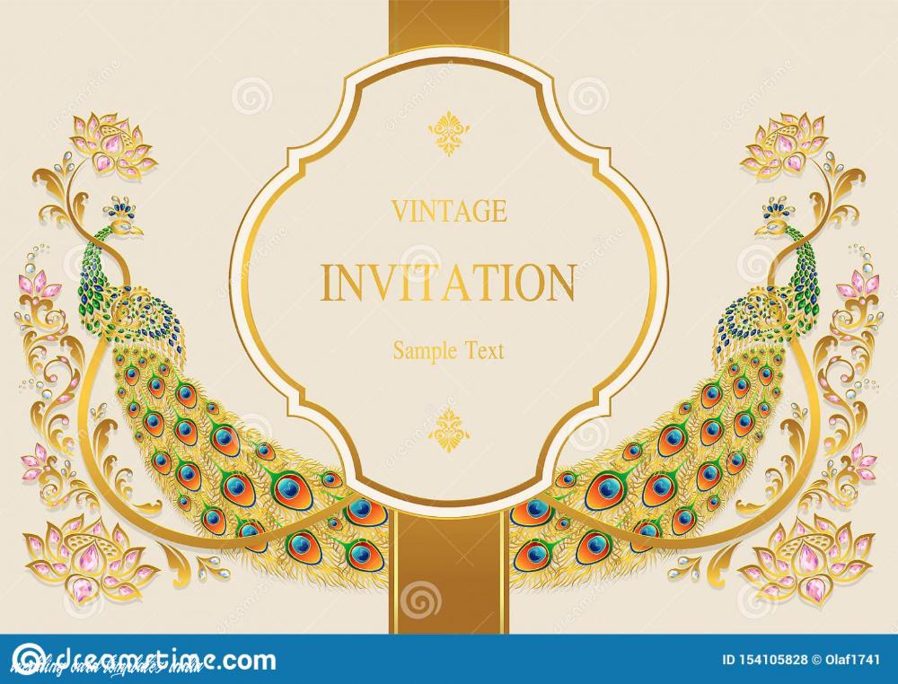 Indian Wedding Invitation Card Templates Stock Vector In 2020 Wedding Invitation Card Template Wedding Cards Wedding Card Templates