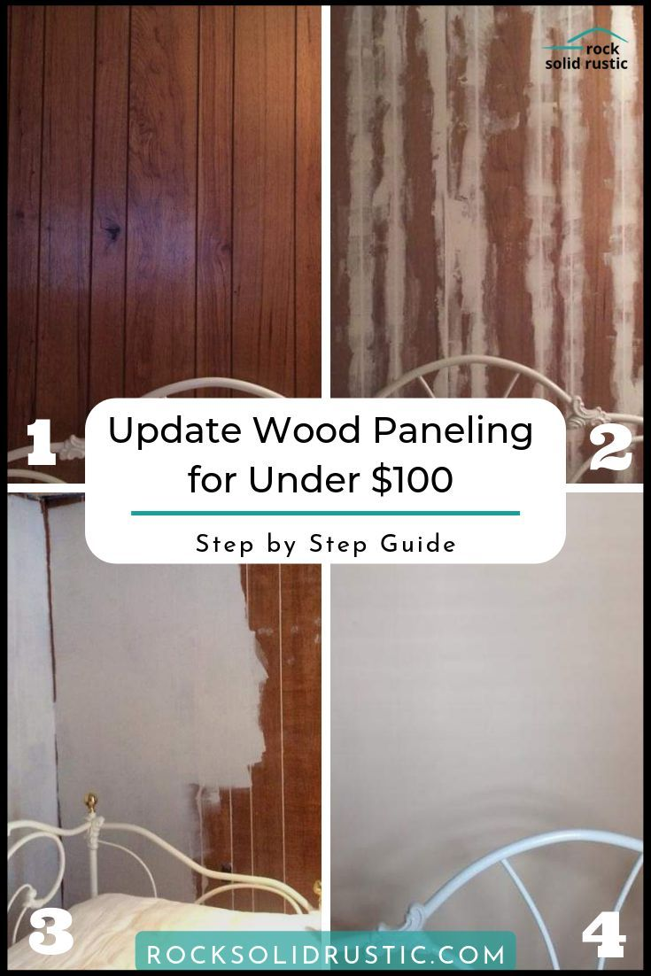 Photo of Give wood paneling a whole new look for under $100.  This DIY allows you to cove…