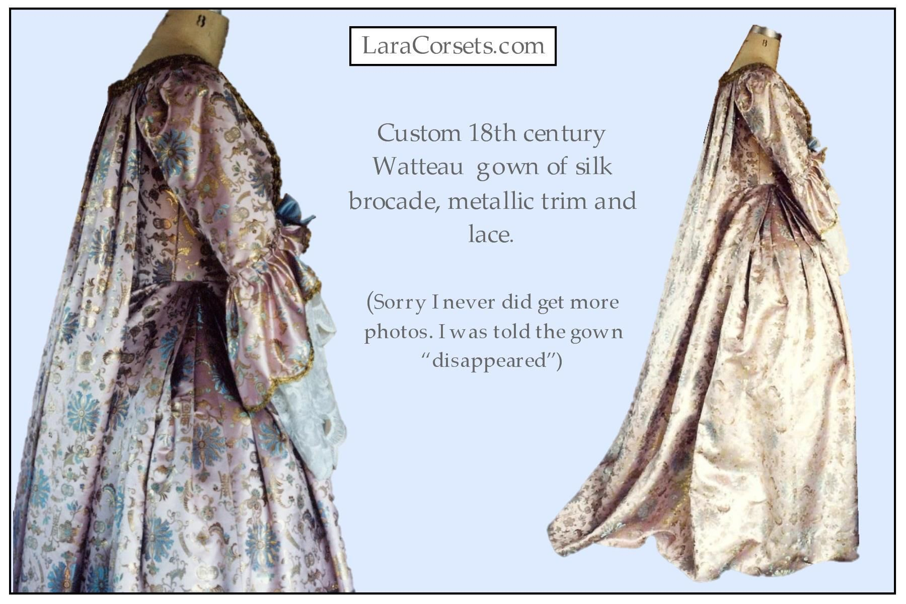 18th century Watteau gown by LaraCorsets | Made by LaraCorsets - my ...
