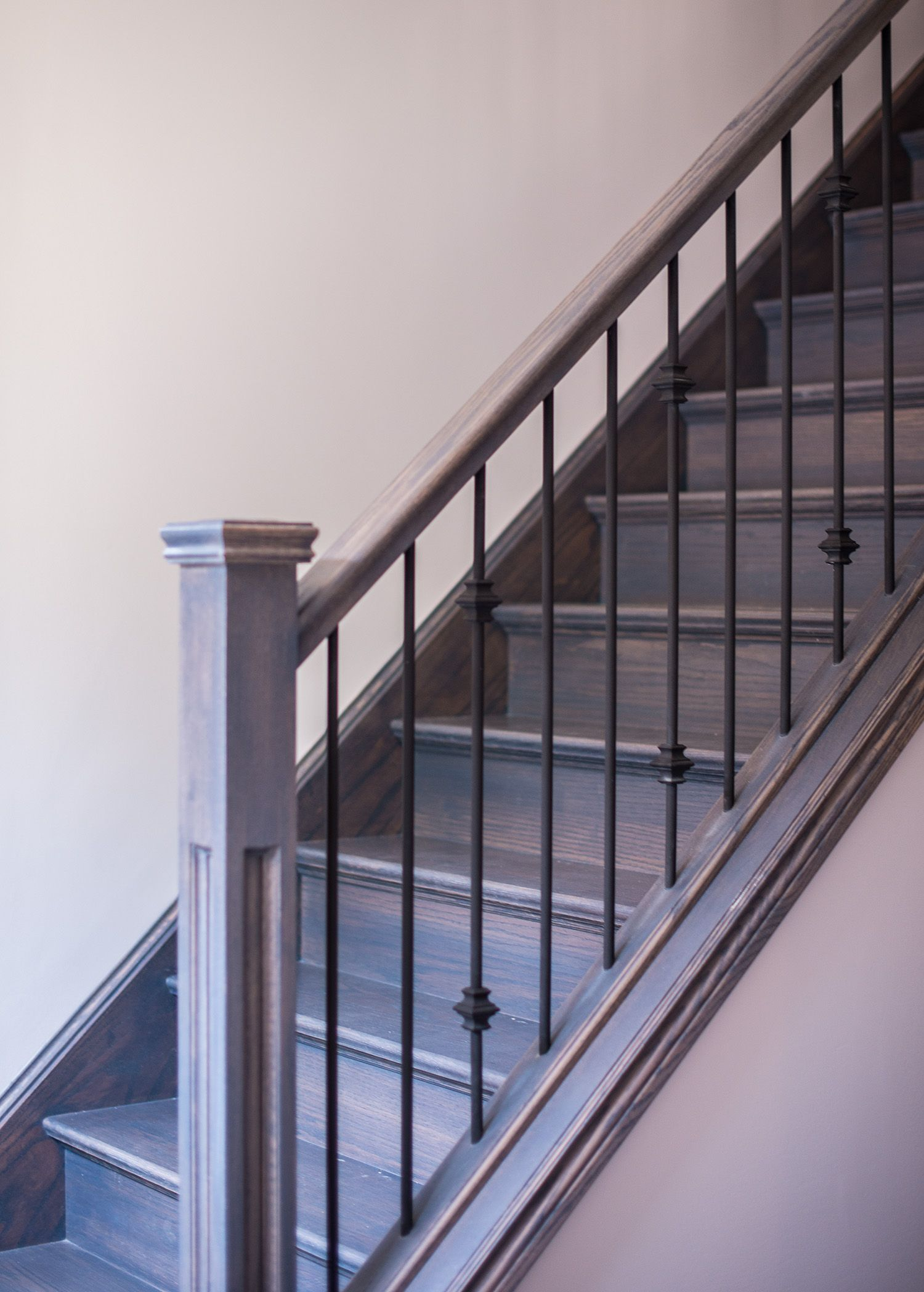 Beautiful Oak Staircase Featuring A Tradition Square Post And Rod