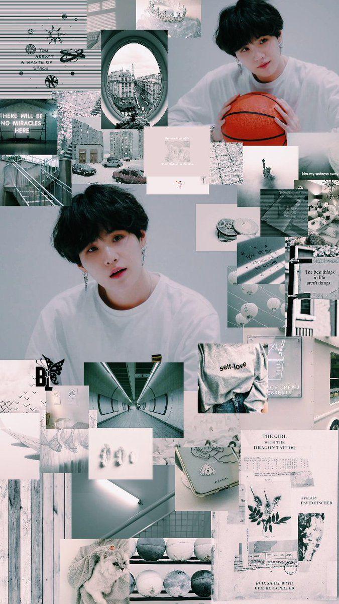 Suga Green Aesthetic Wallpaper Credits To Twitter Butterflylockz Suga Yoongi Bts Wallpaper Bts Backgrounds Suga Wallpaper bts suga aesthetic