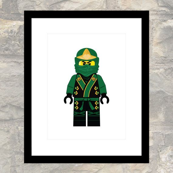 Green Ninja Lloyd in Elemental Robes - Child or Adult - Poster - Printable - Instant Download