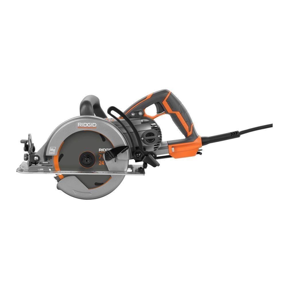ridgid tools saw. ridgid 15 amp 7-1/4 in. worm drive circular saw ridgid tools