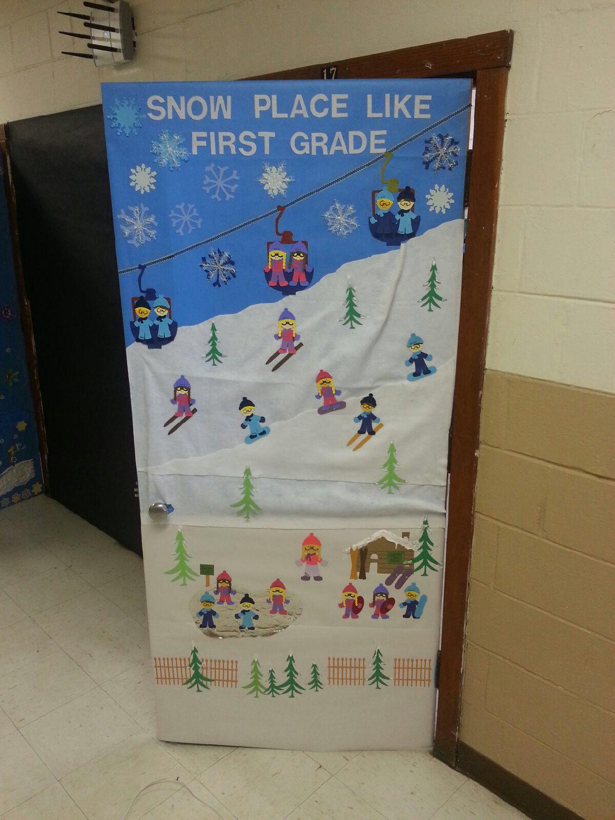 winter classroom door Pinteres