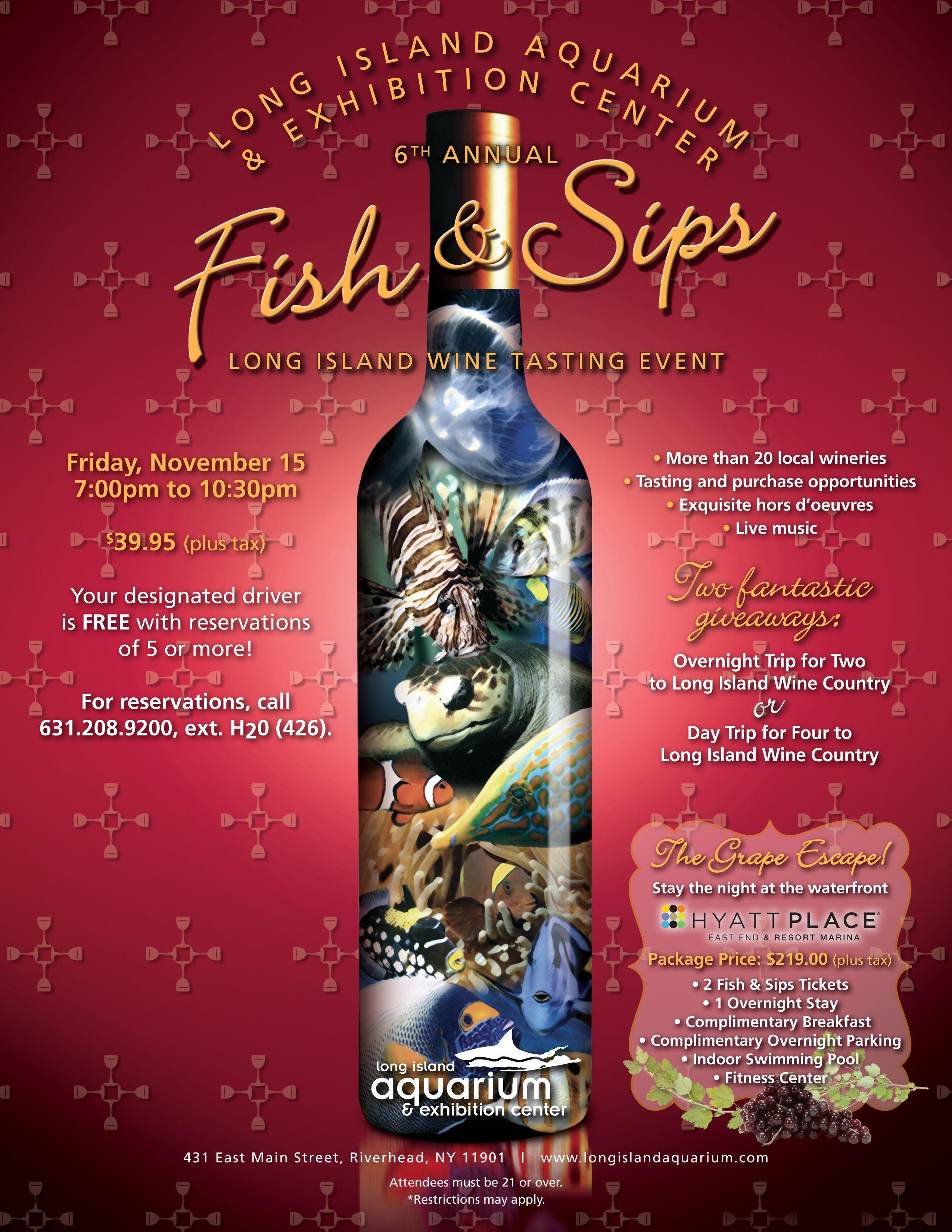 Fish Sips Long Island Wine Tasting Wine Tasting Events Wine Tasting Wine Fridge