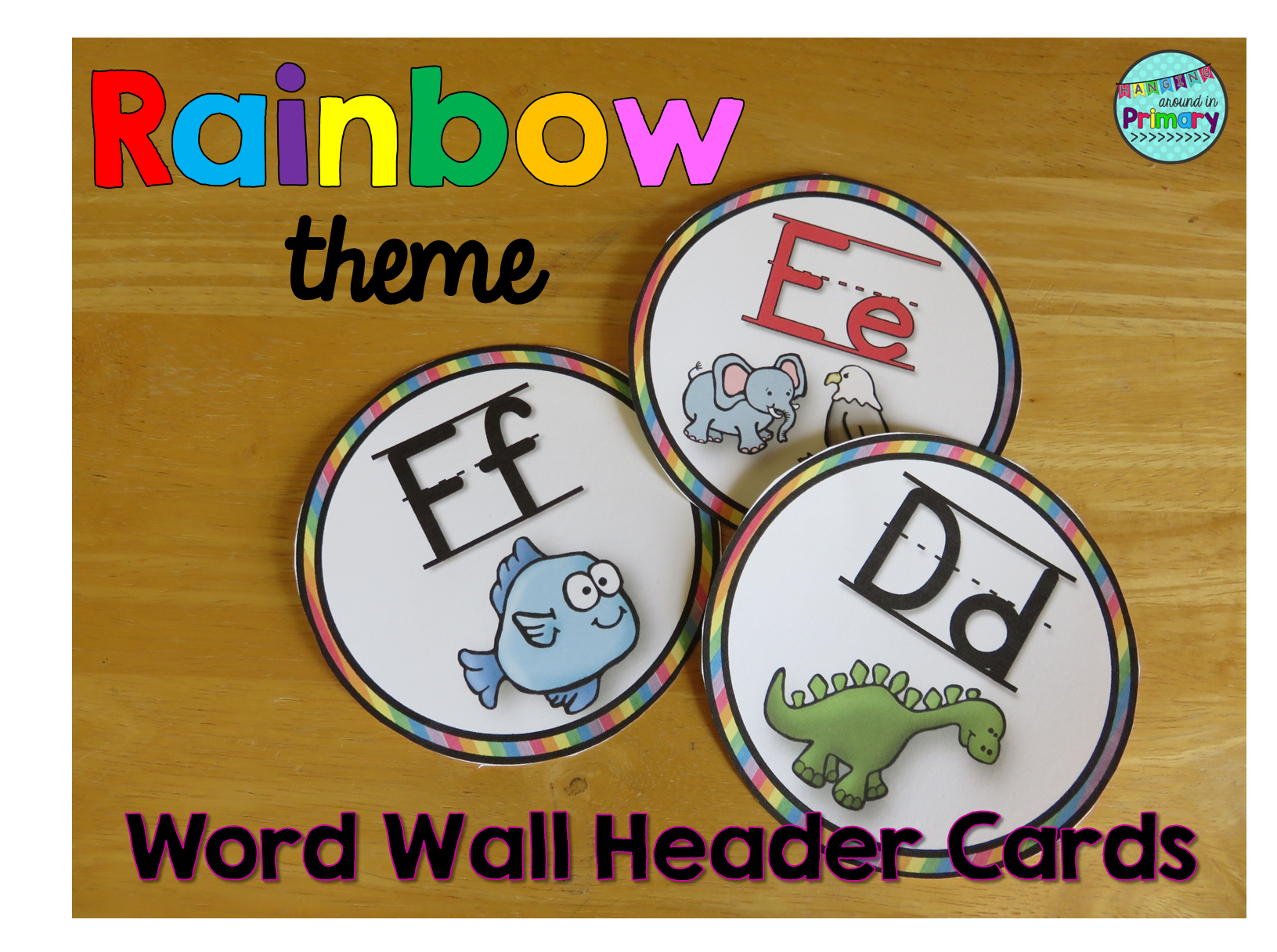 Word Wall Letters Adorable Word Wall Letters  Headers  Rainbow  Word Wall Headers Design Inspiration