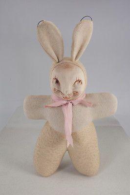 Antique Vintage Stuffed Easter Bunny