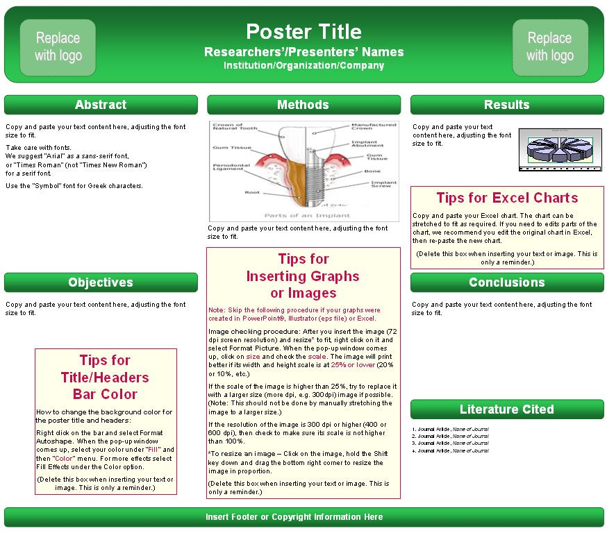 case report poster template