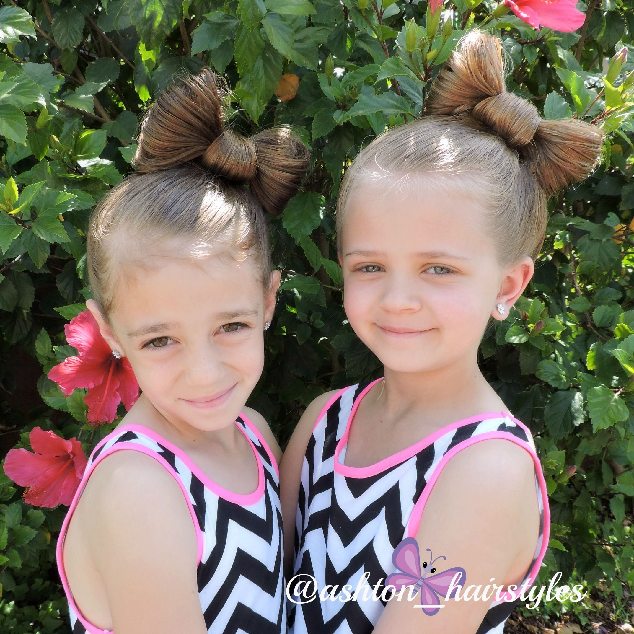Love This Fun Big Bow In Kiley S And Ashton S Hair Fun Bow Hairstyle Little Girl Hairstyles Big And Beautiful