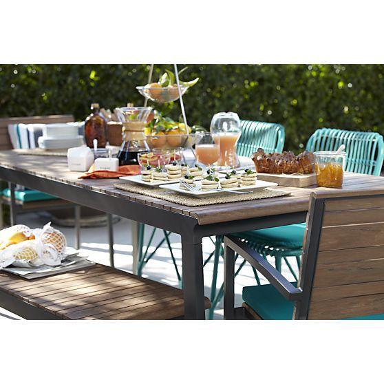 Rocha Rectangular Dining Table Outdoor Dining Rectangular Dining Table Table