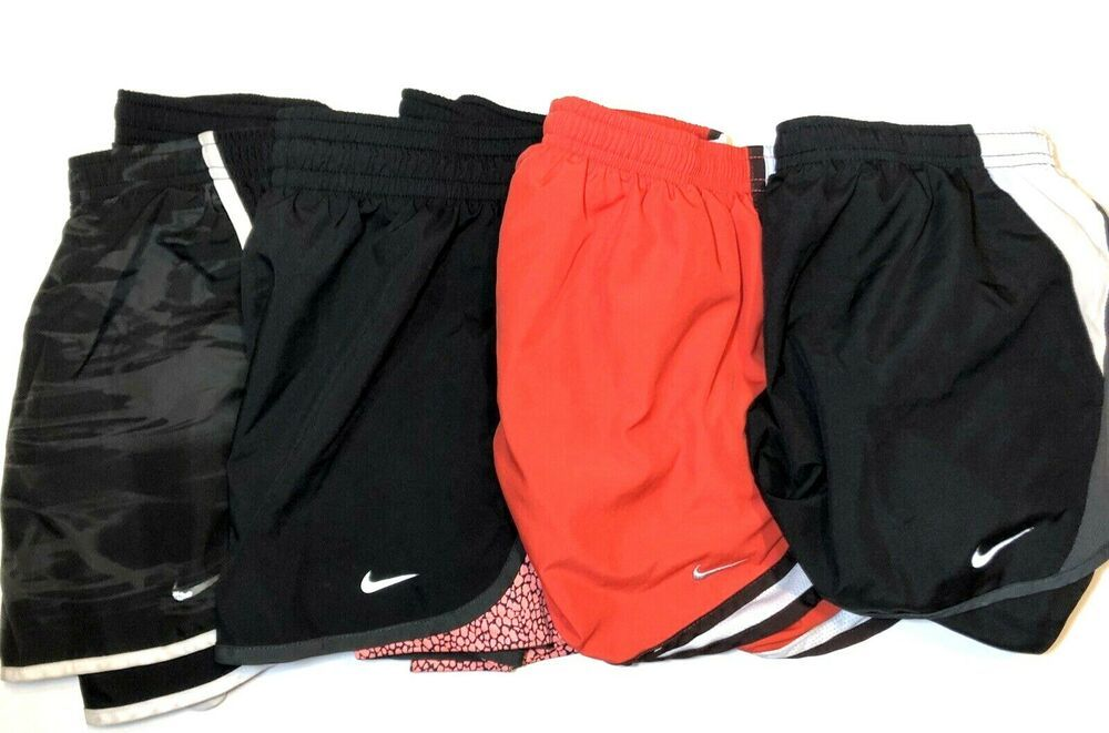 Clothing, Shoes & Accessories Womens Nike Dri-fit Athletic Shorts Size Small Euc Lined Pink/orange Activewear