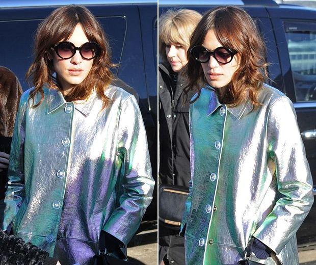 A two tone metallic coat is just what I don't need but really want.