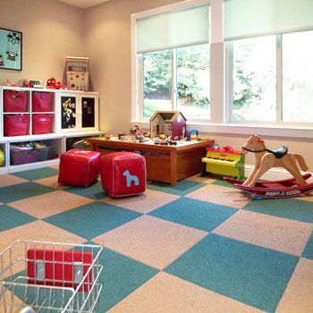 Magnetic chalk paint, fun carpet tiles, and big squishy chairs