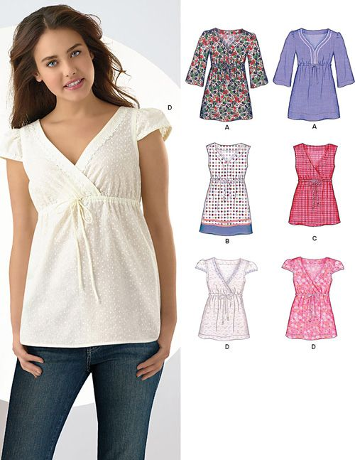 New Look 6962 from New Look patterns is a Misses' Tops ...