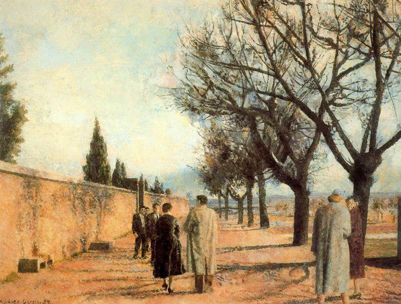 Paseo del cementerio. 1959. Obra de Antonio López García