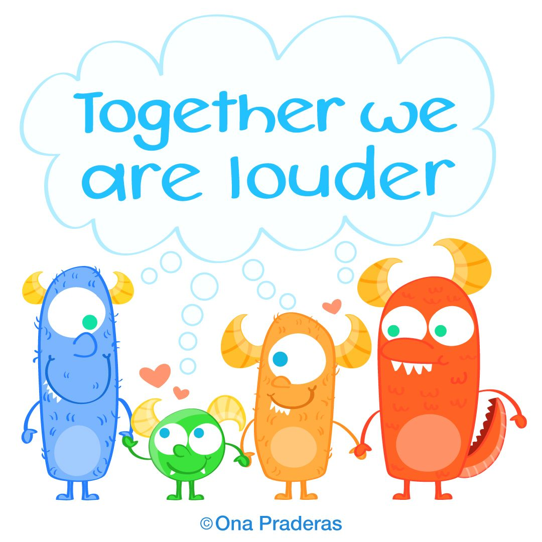 Together we are louder #qotd #happy #positive #kids #ladywavedoodle http://www.onapraderas.com/together-we-are-louder/