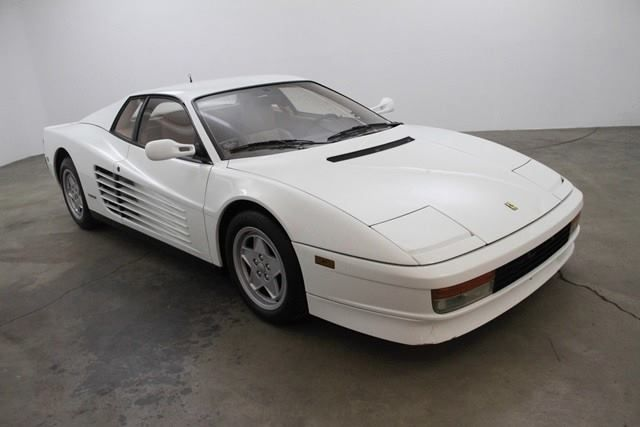1989 Ferrari Testarossa In White With Tan Interior Ferrari