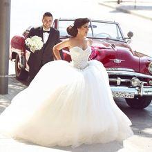 Vestidos De Noiva 2015 novo e elegante cristal frisado do querido branco princesa vestido De Noiva Plus Size Vestidos De Noiva(China (Mainland))