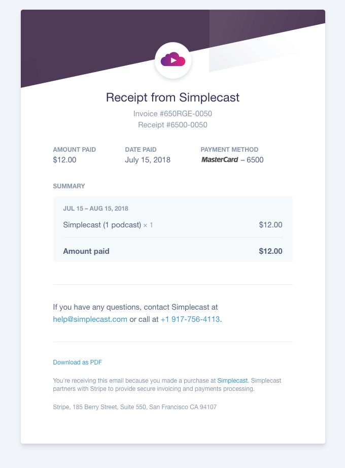 How To Create A Good Transactional Email That Converts Designmodo Email Newsletter Template Design Custom Email Template Invoice Design