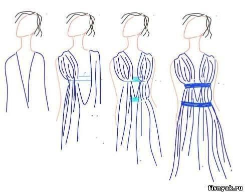 "A ""sew"" simple pattern for a Grecian Goddess dress."