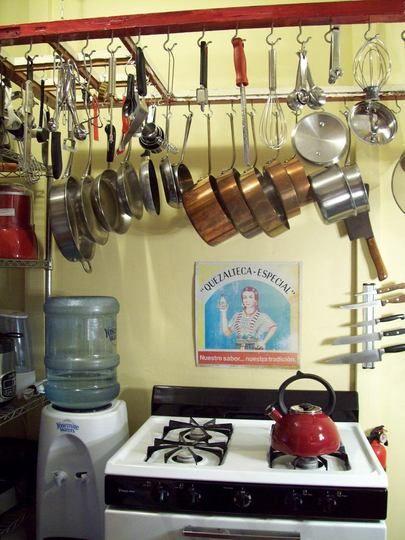 Repurpose Hanging Pot Rack : repurpose, hanging, Southwest, Lori's, Latin, Rack,, Kitchen, Gallery