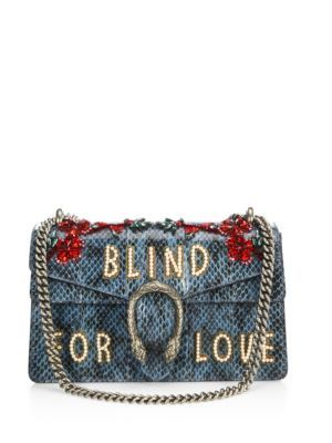 ea0cf8c6121c48 Gucci - Dionysus Blind For Love Embroidered Snakeskin Shoulder Bag ...
